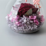 Flor preservada con la luz para la decoración de la boda