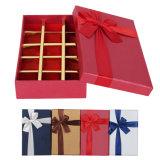Vakje van de Verpakking van de Gift van het Document van de manier het Met de hand gemaakte voor Chocolade met Boog