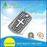 Modifica di cane d'argento dell'acciaio inossidabile del metallo del bollo con il marchio inciso come regali del ricordo