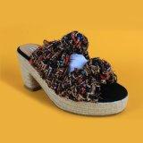18 ans de chaussure de tissu de fournisseur ont gîté des bascules électroniques d'espadrille de cale de femmes