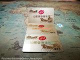 Impresión personalizada RFID ID Chips Smart Business Card Hf E-Ticket