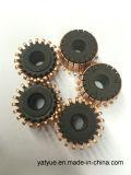 Conmutador del segmento en motor eléctrico