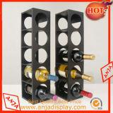 Banco di mostra di legno della bottiglia di vino della cremagliera di visualizzazione del vino
