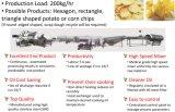 Linha de processamento da microplaqueta de batata do hexágono (HPCPL)