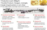 Línea de procesamiento de chips de patata hexagonal (HPCPL)