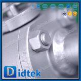 Robinet à tournant sphérique mou de type levier de flottement de cachetage de Didtek avec l'extrémité de chiot
