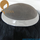 Customized Mono Base Toupee para homens