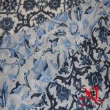 Schönes Blumen-Digital-Chiffon- Kleid-Kleid-Silk Gewebe