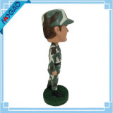 O soldado quente do Sell Bobble o costume principal Bobble o Figurine principal do soldado com molde