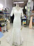 Vestidos de casamento reais da mola 2017 de Aoliweiya com 3/4 das luvas
