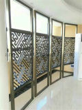 La couleur classique 304 de noir de type a balayé l'écran se pliant de diviseur d'acier inoxydable d'écran en métal décoratif