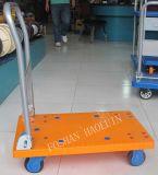 150kg高品質のプラスチックプラットホーム手のカート折るパレット産業トロリー