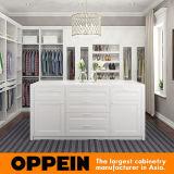 Armadio Walk-in bianco del PVC di stile americano di Oppein (YG16-PVC01)