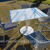 Conception élégante Corian Outdoor LED Lighted Garden Table Sets