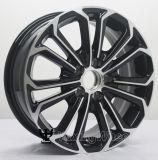 Rueda negra popular de la aleación de aluminio del coche de 15 pulgadas