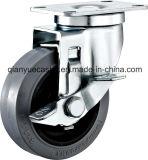 TPR leitende Fußrolle, seitliche Bremse