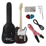 2017 판매를 위한 새로운 단단한 줄무늬 목재 텔레 작풍 일렉트릭 기타
