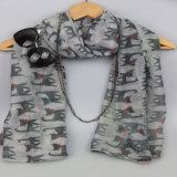 Drucken-netter kleiner Katze-Schal, Mädchen-Form-Zusatzgeräten-Schal, Plyester Schal