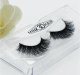 ресницы разнослоистых ресниц волос норки 3D Handmade мягких ложные