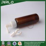frasco farmacêutico do nariz da névoa da medicina do frasco nasal plástico vazio ambarino do pulverizador da bomba 100ml