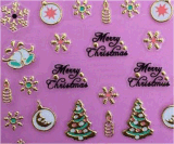 3D Metal Gold Christmas Snowflake Nail Art Stickers Autocollant pour ongles