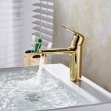 Or de Flg peignant le robinet en laiton solide de bassin de Bath de vanité