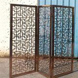 Klassieke Zwarte Kleur 304 van de Stijl Geborsteld Decoratief Metaal die het Scherm van de Verdeler van het Roestvrij staal van het Scherm vouwen