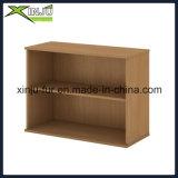 Estante para libros de madera lindo simple de 2 gradas de par en par en Brown oscuro