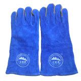 Handschuhe des Sicherheits-Schweißers, schüchtern aufgeteilten Schweiß-Lederhandschuh ein