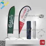 옥외 소형 바닷가 깃발을 광고하는 좋은 품질