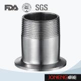 Adaptateur de boyau de pipe de catégorie comestible d'acier inoxydable (JN-FL4002)