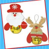 Het kleine Plastic Stuk speelgoed van de Klok van Kerstmis van het Stuk speelgoed met Suikergoed