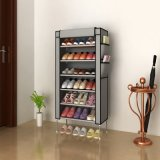 6-Tier poco costoso Metal Frame Waterproof Cloth Shoe Cabinet (WS16-0041, per la collocazione dei pattini di 21 accoppiamento)