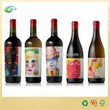 Het Etiket van de Wijn van de douane, de Druk van de Sticker met Document of Plastic Materiaal (CKT- La-332)