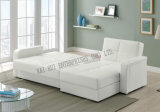 Base branca do sofá do armazenamento de canto do PVC Semi-PLUTÔNIO