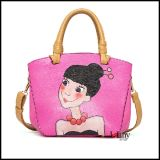 Lelany Brand Genuine Leather Handbags con Cartoon