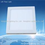 6W 12W 15W Aluminium Square LED panneau de lumière pour le plafond de la maison