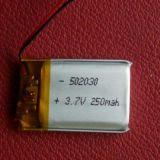 502030 cellule de batterie de Li-Polymère de Lipo Batetry 3.7V 250mAh avec la carte