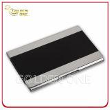 Portatarjetas de cuero del nombre comercial de la PU del metal de la calidad superior