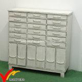 Blanco antiguo de madera para la sala Armarios de almacenamiento