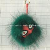 Het in het groot Kwade Monster Keychain van het Bont van de Sleutelring van het Oog