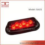 Lumière de tête d'avertissement de LED rouge de véhicule de secours 6W (SL621)