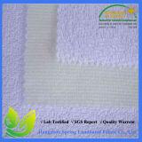 L'unité centrale blanche de couleur enduite imperméabilisent le tissu de Terry tricoté de matelas