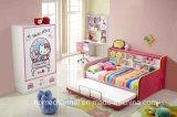 Het moderne Bed Van uitstekende kwaliteit van de Stof van de Prinses van de Kinderen van het Ontwerp van het Beeldverhaal Wasbare (HCB012)