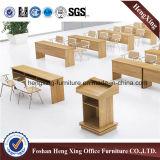 Grand Tableau de conférence moderne de réunion de bureau de rectangle de mélamine de noix de taille (HX-5N151)