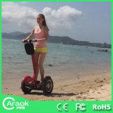 スマートな電気スクーターのバランスをとっている2つの車輪の自己
