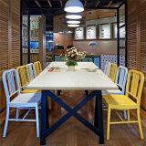 現代レストランの家具の固体表面の石造りのレストラン表セット
