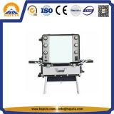 LED (HB-3508)를 가진 알루미늄 직업적인 회전 메이크업 케이스