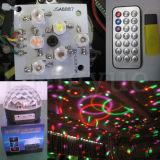 iluminação mágica do estágio da esfera do disco de 6X3w DMX DJ