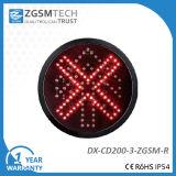 Semaforo della croce rossa del segnale di arresto della strada privata per il diametro 200mm del rimontaggio 8 pollici